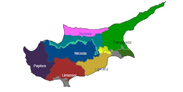 Pembagian wilayah administratif Siprus