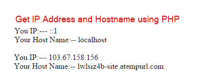 get ip address in php