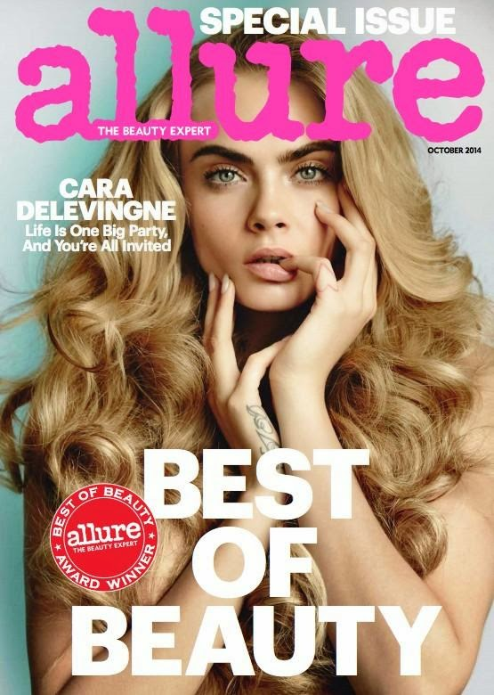 Cara Delevingne shows off golden curls for Allure Magazine October 2014