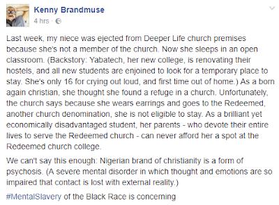 Kenny Badmus, RCCG, Deeper Life, News,