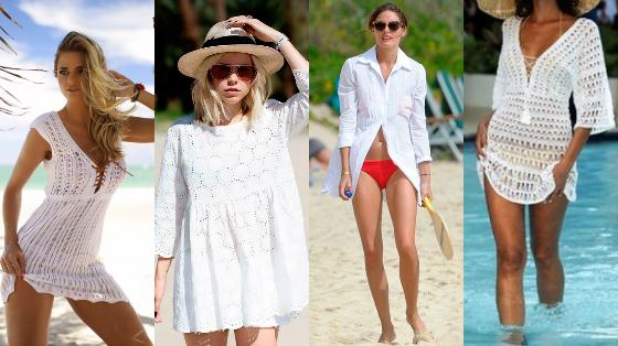 saida de praia e piscina branca