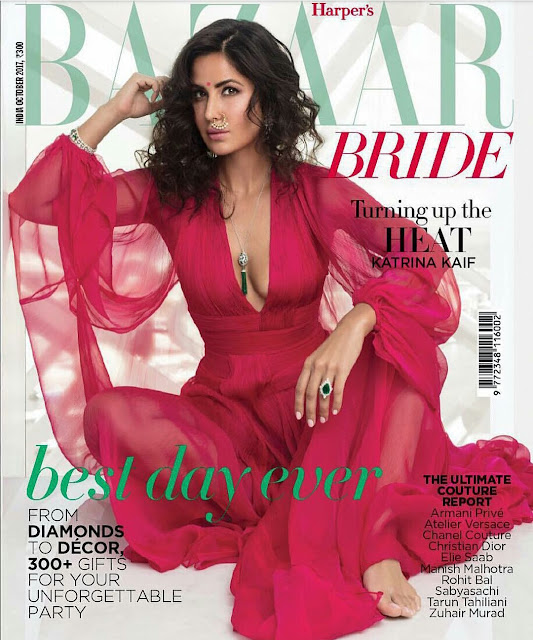 Katrina Kaif On Harper's Bazaar Bride October 2017 Cover