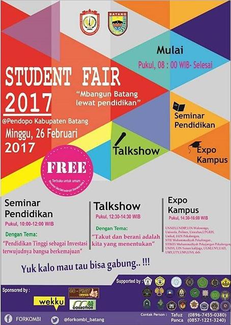 Event Batang | Student Fair Batang 2017