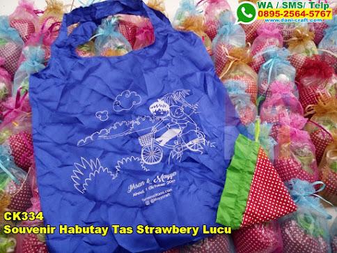 Harga Souvenir Habutay Tas Strawbery Lucu