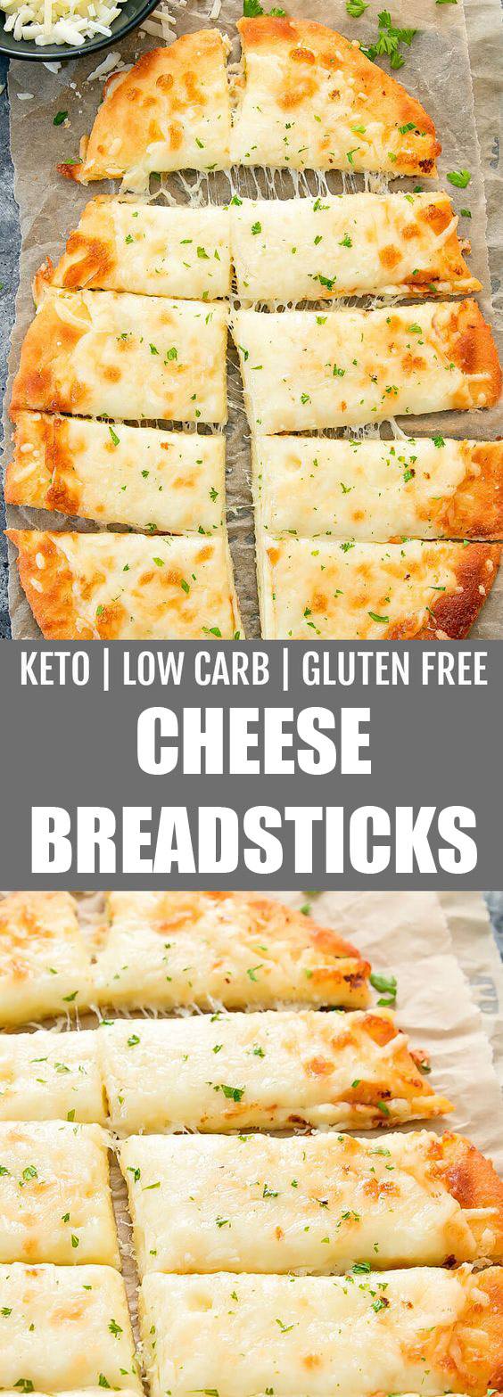 Low Carb & Gluten Free Cheese Breadsticks