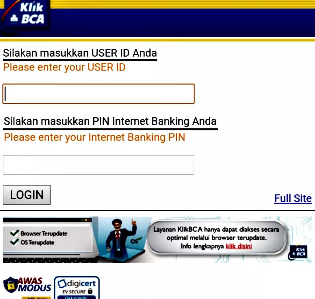 Klikbca Individual Cek Saldo Cara Daftar Dan Login Internet Banking