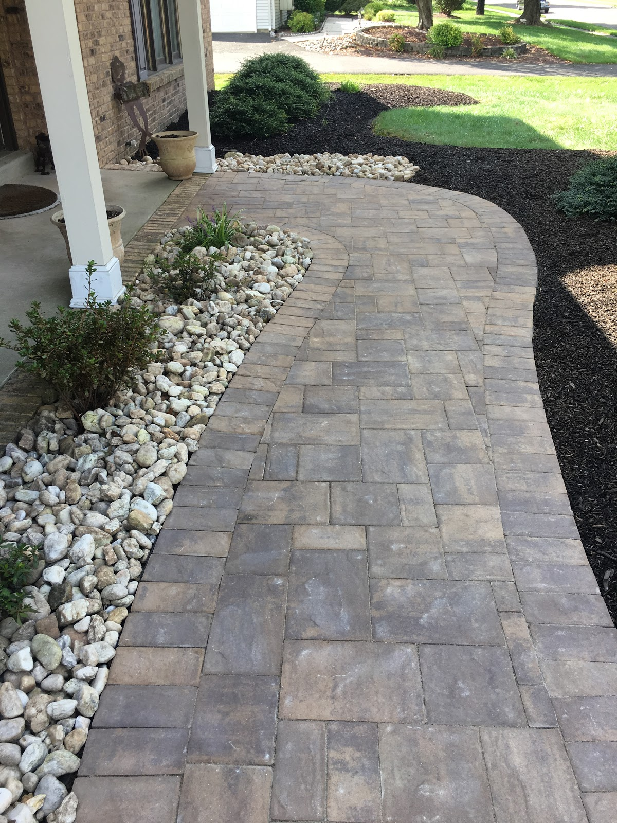 Aesthetic Paver Stone Things like natural stone and brick create a timeless look while pavers and  some concrete can create a modern aesthetic.