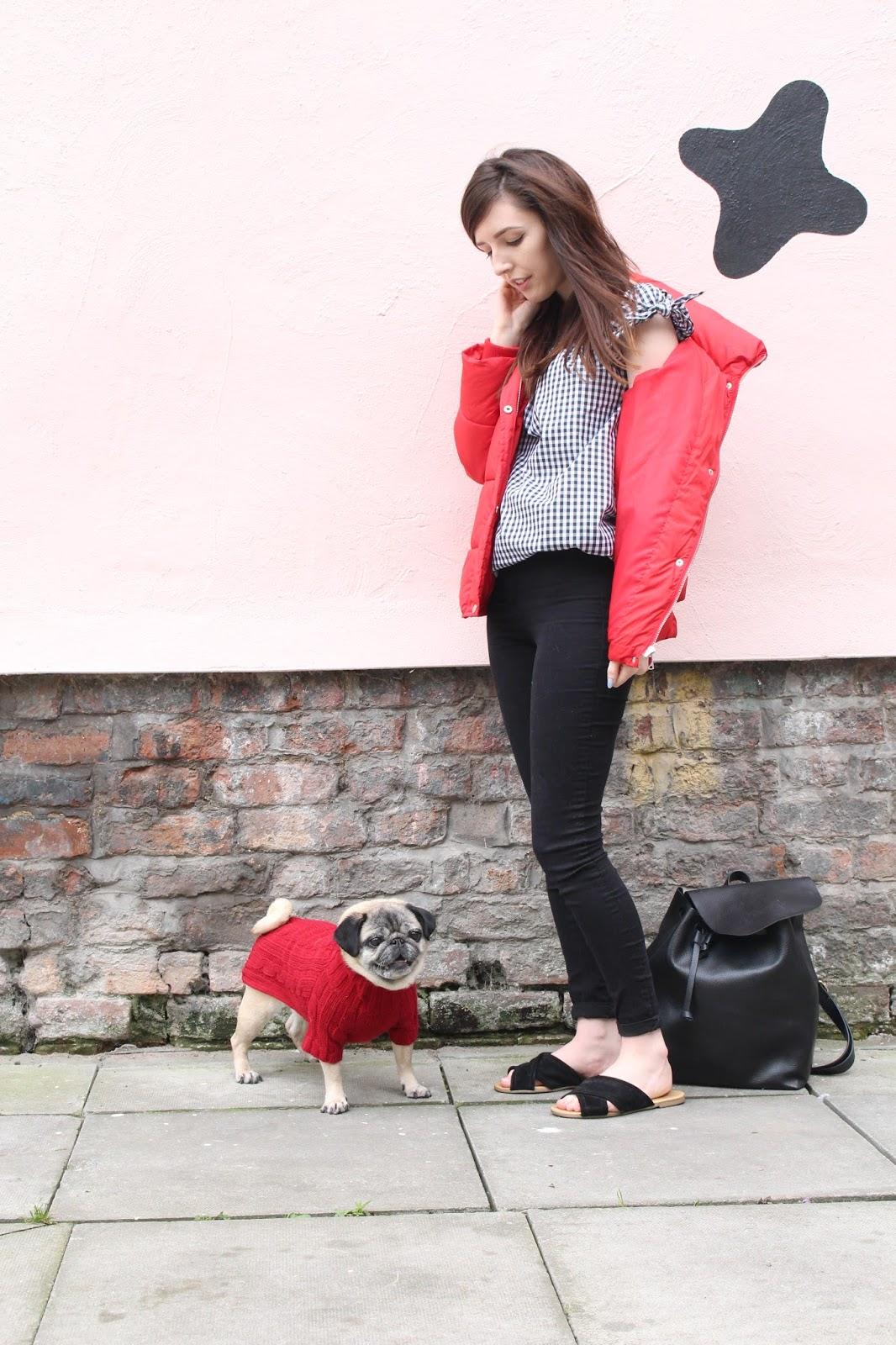 UK blogger, UK Fashion blogger, liverpool fashion blogger, matalan red puffa coat, style blogger,