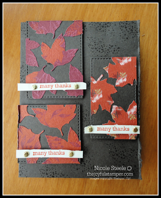 Sketch challenge card with Stampin' Up!'s Gather Together set and Gathered Leaves dies