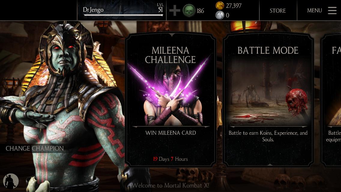 Dr Jengo S World Mortal Kombat X Mobile Mileena Challenge
