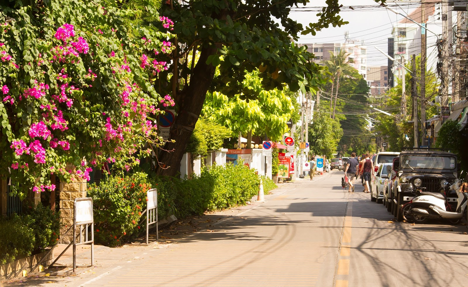 Sides streets of the Nimman area in Chiang Mai, Thailand