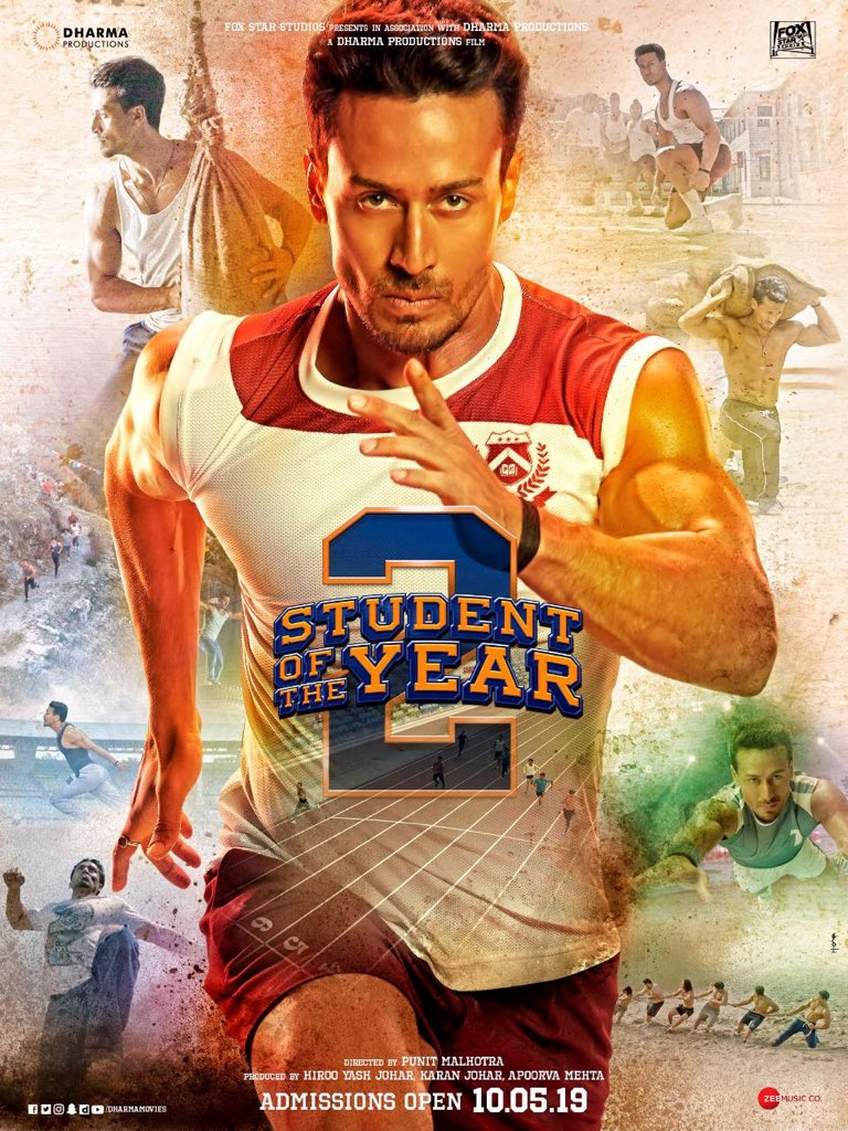 Student Of The Year 2 First Look Poster | Student Of The Year 2 | Tiger Shroff