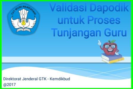 gambar validasi dapodik Untuk tunjangan Guru 2017