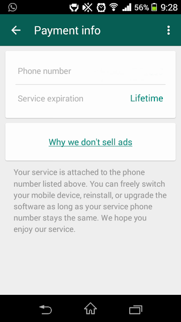 whatsapp free for lifetime