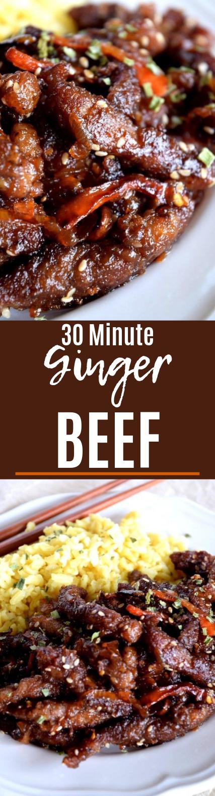 30 Minute Ginger Beef #meat #easyrecipe