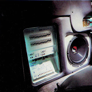image in color of the interior of Matt Billmeier's 1995 Dodge Ram truck  highlighting the equipment behind the passenger's seat