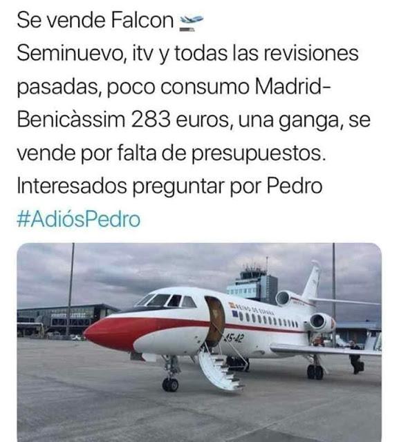 Se vende Falcon, seminuevo, itv y todas las revisiones pasadas, poco consumo, Madrid - Benicàssim 283 euros, una ganga, se vende por falta de presupuestos. Interesados preguntar por Pedro #AdiósPedro