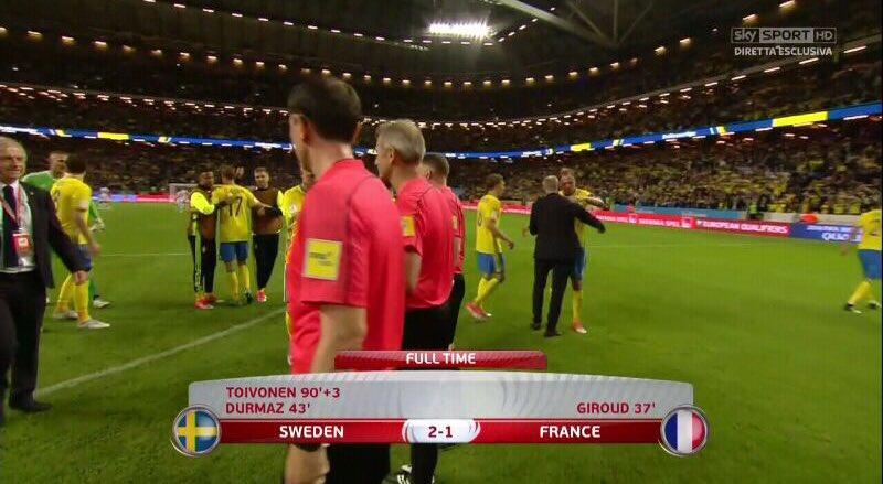 فيديو: السويد تفوز على الديوك الفرنسية بخطأ فادح و هدف عالمى 2-1 فى  تصفيات كأس العالم 2018 عن أوروبا France-vs-Sweden