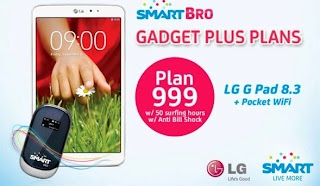 Smart added LG G Pad 8.3 tablet with free Pocket Wi-Fi on their Gadget Plus Plan