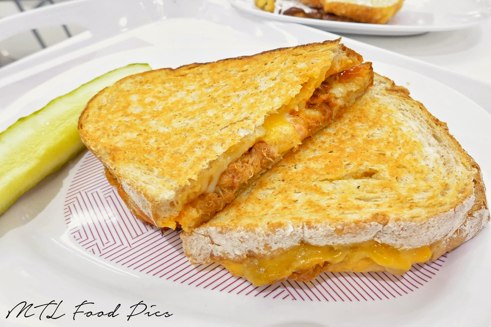 MLT DWN - Pulled Pork Grilled Cheese Sandwich