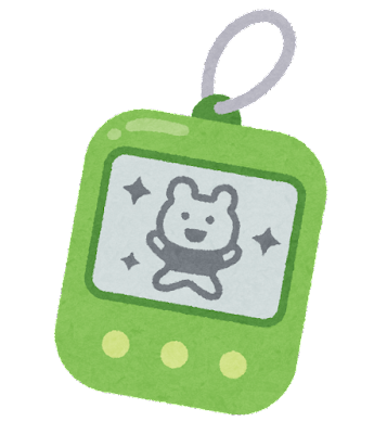 携帯型の育成ゲームのイラスト