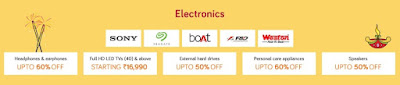 Snapdeal Unbox Diwali Sale - Get upto 70% off + 10% discount via Axis Bank card electronics sale (20-25th September)