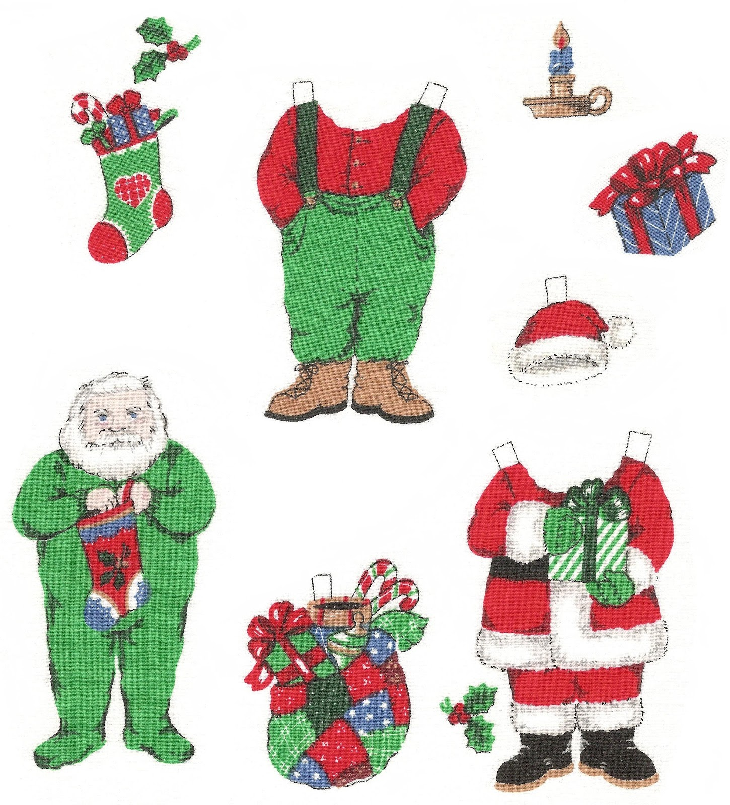 Mostly Paper Dolls Too!: Santa and Mrs. Claus Paper Dolls ...