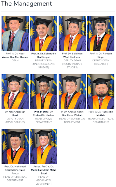 Universiti Malaya Engineering Faculty Heads of Departments