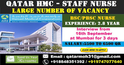 QATAR HMC - LARGE NUMBER OF VACANCY