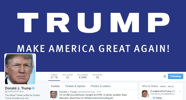 Image Attribute: Web Screenshot of Trump's Twitter Page