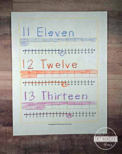 Teen Number Sense Worksheets