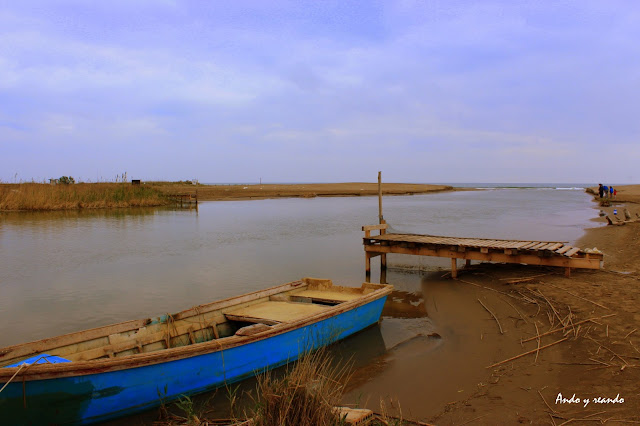 Barco de pesca en Gola de Migjorn