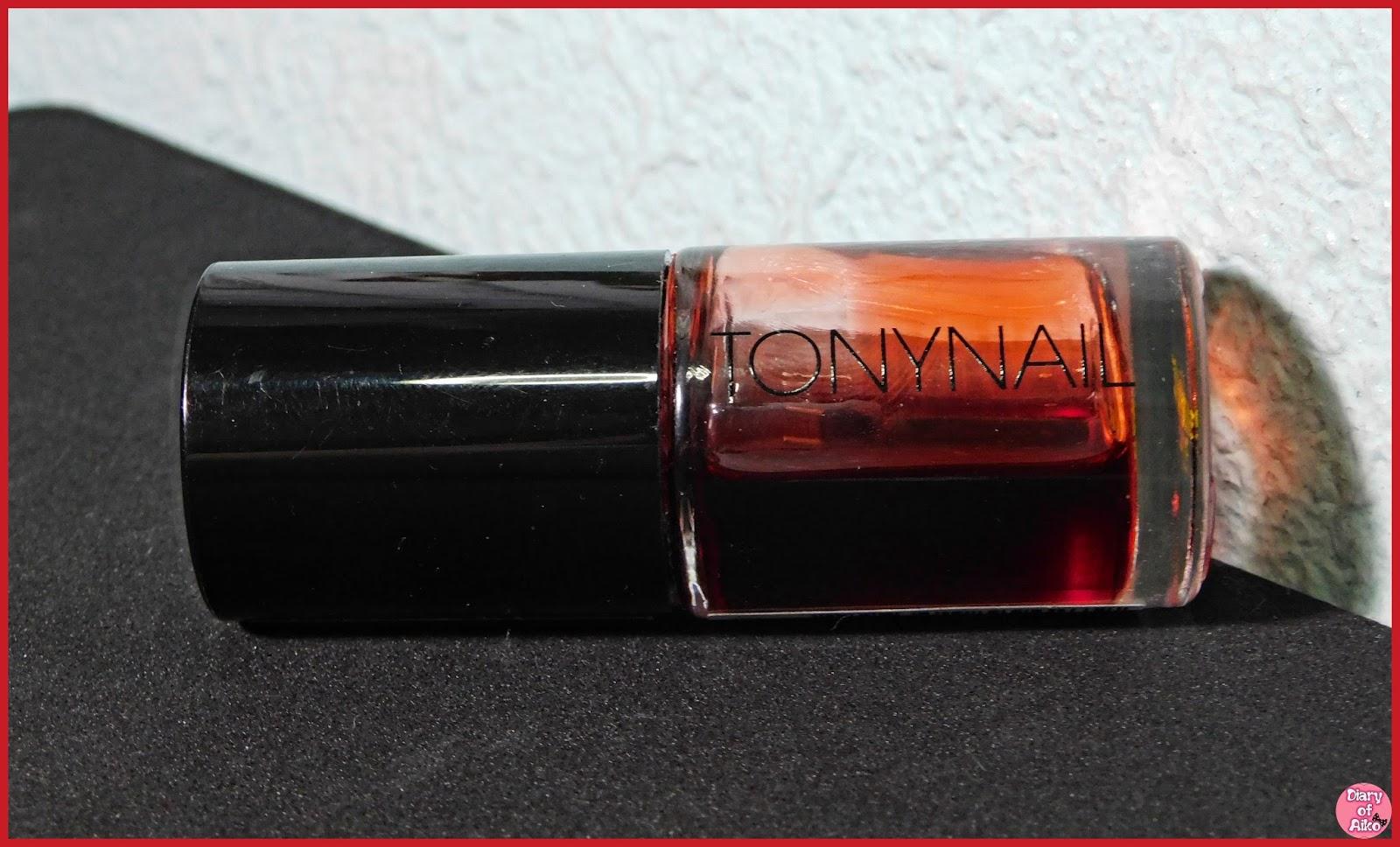 Review Tonymoly Delight Tony Tint Nail 01 Cherry Pink Moly Liptint