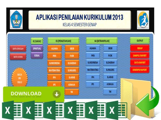 Download Aplikasi Raport Kurikulum 2013 SD SMP SMA Tahun 2018/2019