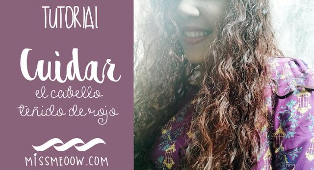 Cuidar el cabello rojo teñido