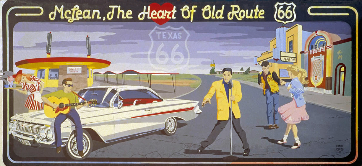 Transpress nz route 66 mural mclean texas for Route 66 mural