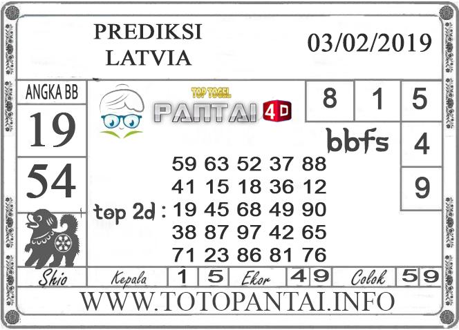 """Prediksi Togel """"LATVIA"""" PANTAI4D 02 FEBRUARI 2019"""