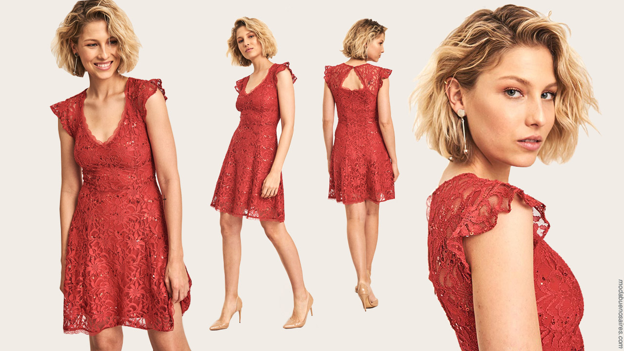 Vestidos de moda 2019 │ Moda 2019 │Vestidos de encaje elegantes para invitada de boda 2019.