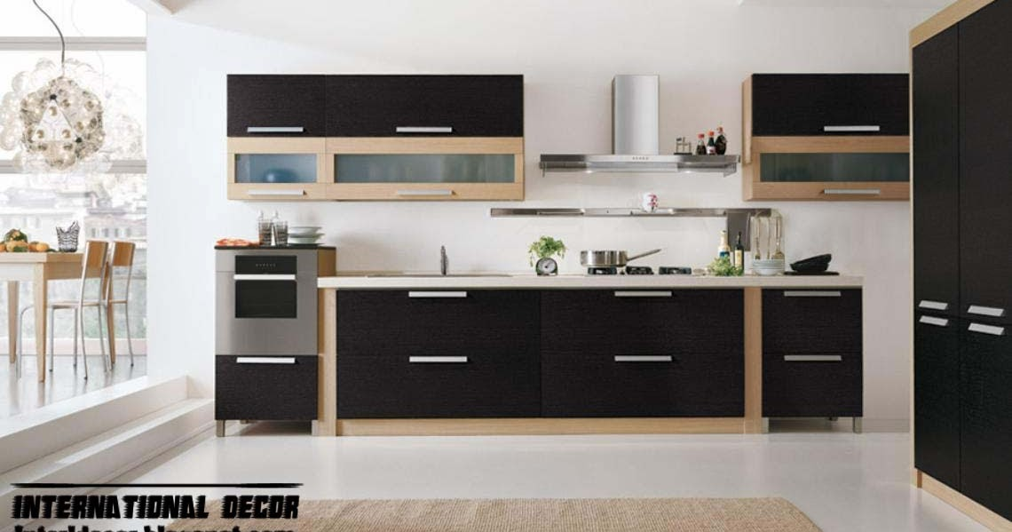 Modern Black Kitchen Designs, Ideas, Furniture, Cabinets 2015