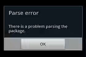There was a problem Parsing the Package Error