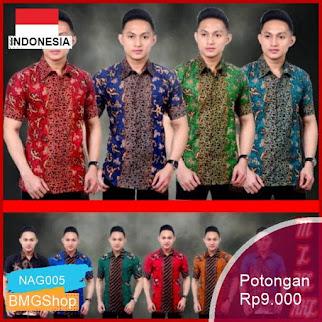 NAG005 Batik Hrb026 Kenongo Pendek Modern Murah Bmgshop