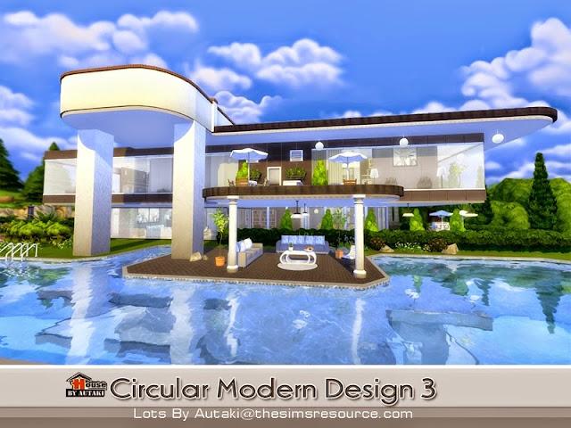 Casa moderna circular design the sims 4 pirralho do game for Casa moderna sims 3 sin expansiones