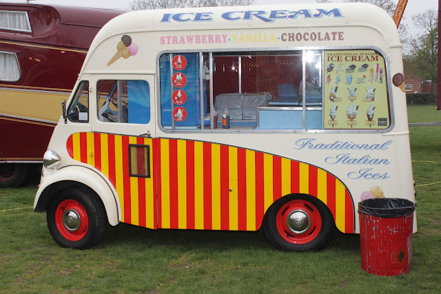 Ice cream van at Carters Steam Fair.