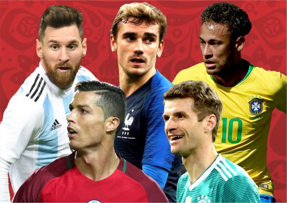 Messi, Ronaldo, Antoine Griezmann and Neymar will all be competing for the Addidas Golden Boot award