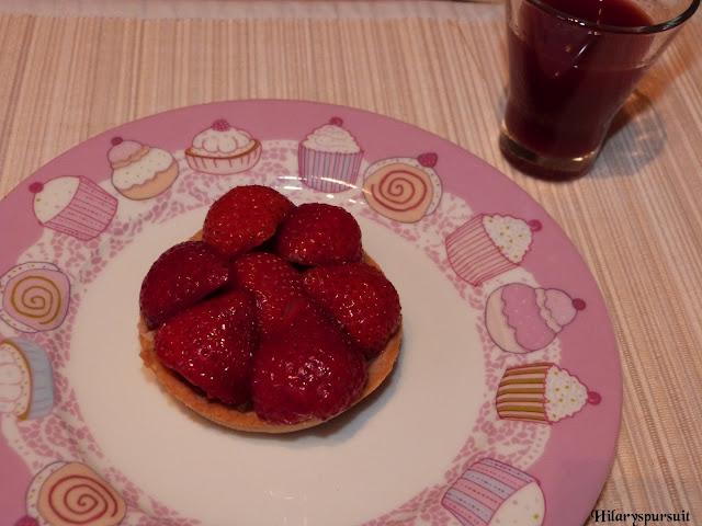 Tarte fraise rhubarbe inspirée de Philippe Conticini