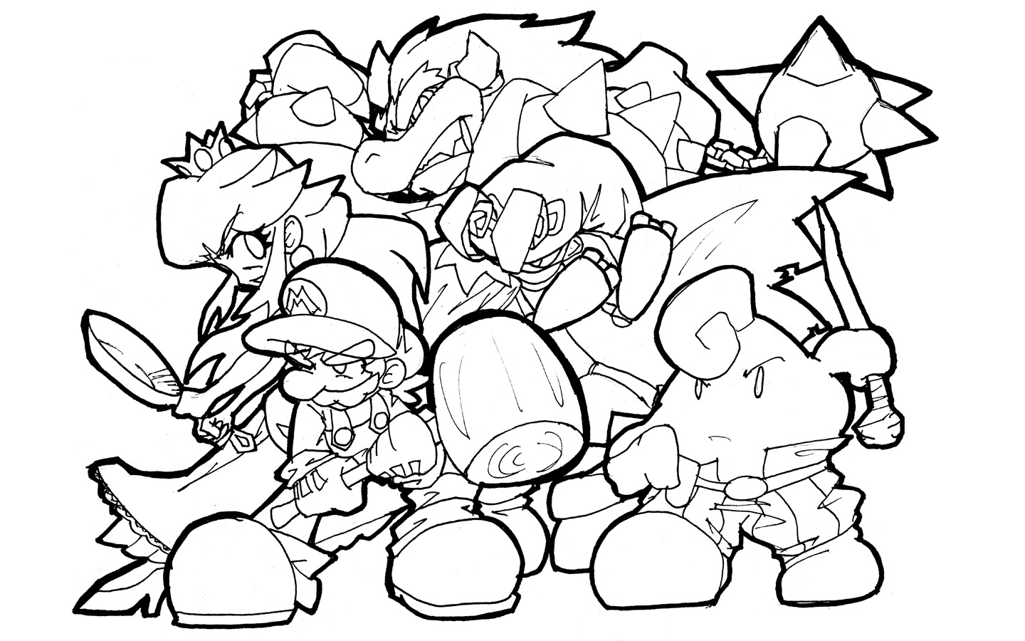 Super Mario Coloring Pages 22