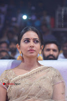Actress Rakul Preet Singh Stills in Golden Embroidery saree at Rarandoi Veduka Chuddam Audio Launch .COM 0013.jpg