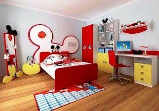 Dekorasi Kamar Anak Mickey Mouse Terbaru