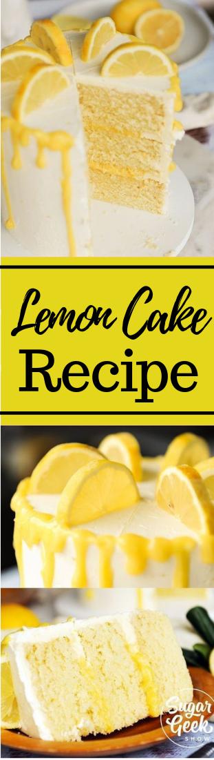 Lemon Cake Recipe #desser