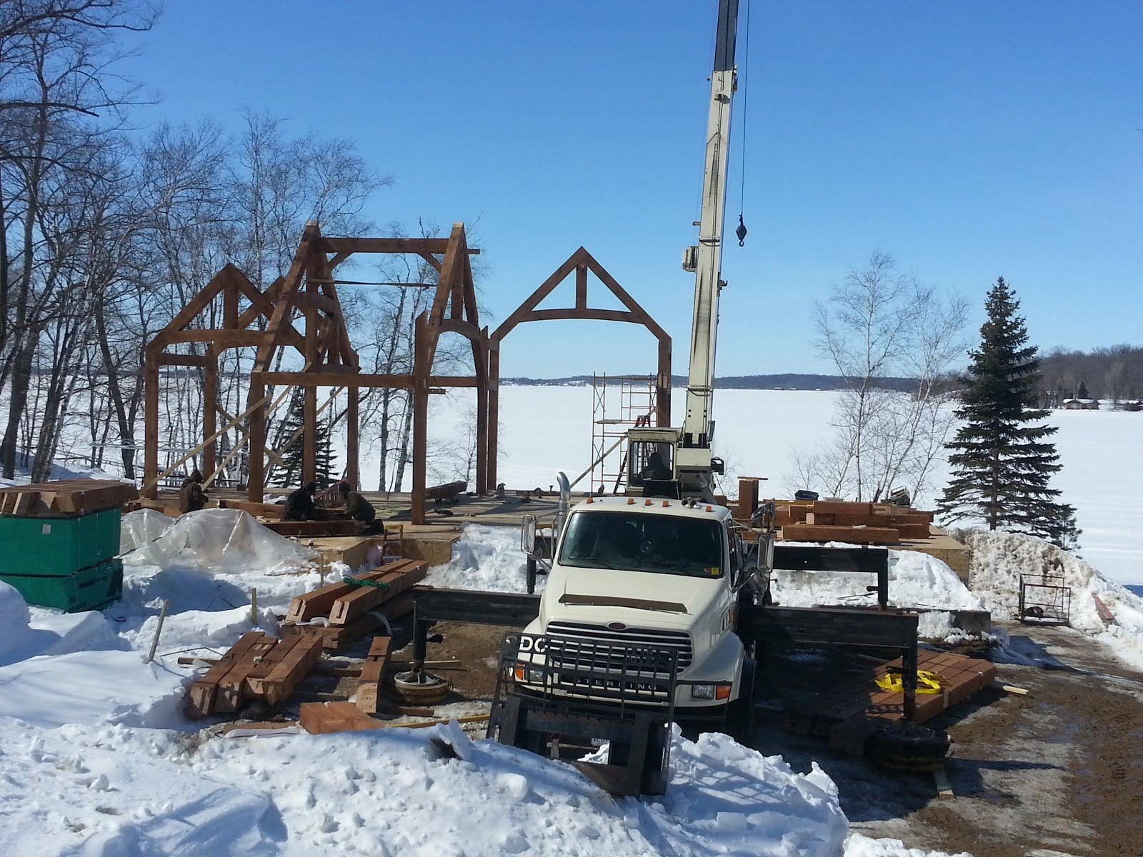 This cold Minnesota spring can't stop us  - Blue Ox Timber
